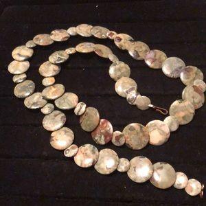 "Other - Handmade Gemstone Disc Necklace 30"""